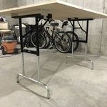 $140 Height Adjustable Folding Legs - SKU PDLA Metal Folding Table, Camping In Texas, Black Cover
