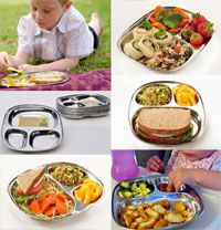 Stainless Steel Divided Tray: ECOlunchtray (Large) I really want this for the kids! Food Trays, Food Containers, Stainless Steel Bento Box, Plastic Alternatives, Divided Plates, Commercial Dishwasher, Toddler Meals, Toddler Food, Food Plating