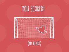 A funny Football template with a red background and a white illustration of a goal with a heart in it. A Funny, Hilarious, Football Template, Funny Football, Red Background, My Heart, Goal, Funny Quotes, Jokes