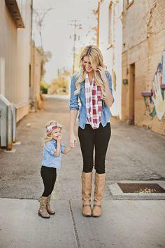Mom Scarf & Mini Headband Style {OF CHOICE}