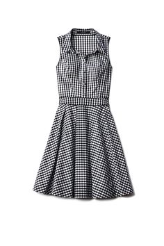 Guess Sleeveless Gingham Shirtdress, $108; guess.com   - ELLE.com