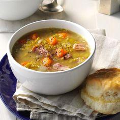 Need pea soup recipes? Get delicious pea soup recipes including quick pea soup, cream of pea soup, chilled pea soup and more pea soup recipes. Ham Bone Recipes, Jalapeno Recipes, Pork Recipes, Slow Cooker Recipes, Cooking Recipes, Crockpot Recipes, Frugal Recipes, Meal Recipes, Dinner Recipes