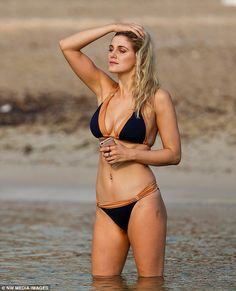 Ashley James puts on a eye-popping display in an itsy-bitsy bikini