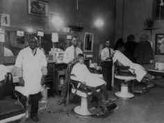 Image result for black man barber shop history