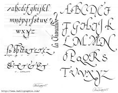 Chancery Cursive Calligraphy Alphabet | Featured Nursing Sponsor
