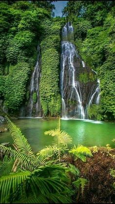 Bali, the island of God needs no introduction. No doubt there are more than ten beautiful spots in Bali (obviously), but here are ten of our favorites. Beautiful World, Beautiful Places, Beautiful Pictures, Beautiful Waterfalls, Beautiful Landscapes, Bali Waterfalls, Nature Wallpaper, Hd Wallpaper, Scenery Wallpaper