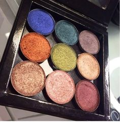 Makeup geek foiled eyeshadows. They are the prettiest eyeshadows ever!
