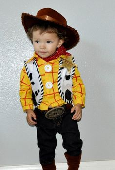 Cute Toy Story Woody costume idea for toddlers