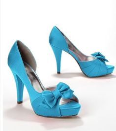Maribelle shoes in Malibu blue from David's Bridal
