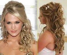 Resultado de imagem para penteados noivas cabelo comprido solto