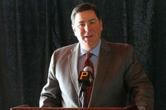 Pittsburgh Mayor Bill Peduto speaks during a news conference where they announced the July 1, 2016 Billy Joel concert on Thursday, Jan. 14, 2016, at PNC Park in Pittsburgh.