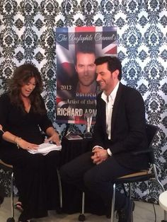Richard Armitage laughing through Anglophile Interview