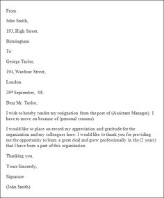 How To Prepare Curriculum Vitae Sample  Letter Of Resignation