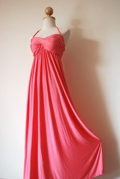 Gorgeous Cherry Pink Evening Dress by pinksandcloset on Etsy, $55.00