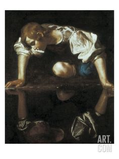 Narcissus Giclee Print by Caravaggio at Art.com