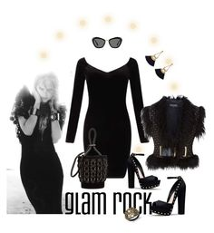 """All Black: Glam Rock"" by valeria-meira ❤ liked on Polyvore featuring Miss Selfridge, Balmain, Alexander Wang, Thalia Sodi, Miu Miu and allblack"