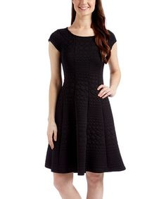 Look what I found on #zulily! Black Dots Fit & Flare Dress - Plus Too #zulilyfinds