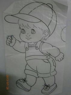 Imagem relacionada Fabric Painting Tutorial: In this tutorial we'll tell you how to use Country Chic Art Drawings For Kids, Pencil Art Drawings, Art Drawings Sketches, Disney Drawings, Cartoon Drawings, Cute Drawings, Coloring Books, Coloring Pages, Baby Drawing