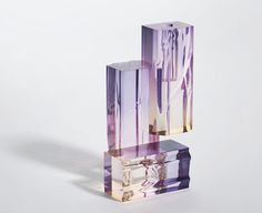 Dramatically Dyed Acrylic Vases, Injecting Nature Into an Otherwise Industrial Process - Sight Unseen Like Symbol, Monochromatic Room, Acrylic Furniture, Salon Art, Heath Ceramics, Wall Accessories, Find Color, Acrylic Resin, Tree Bark