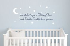 Star Wall Decals for Kids Rooms — Brand Resort Home Ideas Nursery Decals Girl, Owl Wall Decals, Moon Nursery, Wall Decals For Bedroom, Star Nursery, Nursery Decor, Nursery Rhymes, Nursery Ideas, Baby Messages