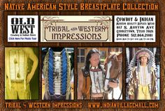 Native American Style Handcrafted Breastplates From Tribal Impressions- www.indianvillagemall.com