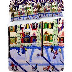Renie Britenbucher Remnants Of A Snow Day Sheet Set