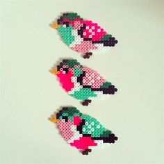 For today, I'm gonna share with you 13 lovely hama bead designs to do with your kids at weekends. All of these perler bead designs are in cute. Perler Bead Designs, Hama Beads Design, Diy Perler Beads, Hama Beads Patterns, Perler Bead Art, Beading Patterns, Mosaic Patterns, Melty Bead Designs, Mini Hama Beads