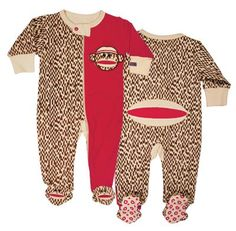 Gender Neutral Cute Sock Monkey Footed Romper - Polkadot Patch Boutique