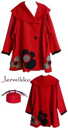 Kati Koos ~ January 2009 Newsletter  Jermikko Red Coat with hat