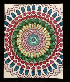 Mandala art by Linda Hallett.