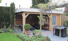 Het realiseren van een tuinhuis met overkapping « | Kerkhofmaatwerk | Kerkhofmaatwerk