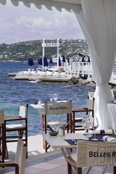Hotel Belles Rives - Antibes, France - The Belles Rives has one of the most breathtaking terraces on the Côte d'Azur.