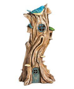 Look at this #zulilyfind! Light-Up Tree Fairy House Garden Décor by Evergreen #zulilyfinds