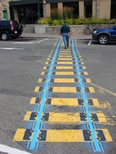 12 Pedestrian Crosswalk Artworks (zebra crossing art) - ODDEE