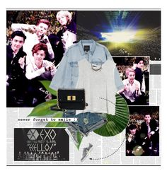 """""""EXO@""""hello"""" greeting party in Japan"""" by rainie-minnie ❤ liked on Polyvore featuring Monki, MINKPINK, Marc by Marc Jacobs and Impulse"""
