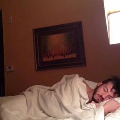 Josh Dun sleeping and obviously Tyler took this picture we all know that.