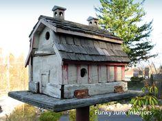 bird house using old barn wood