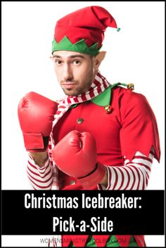 Christmas Icebreaker: Pick a Side - Women's Ministry Toolbox - Spiel Christmas Games For Women, Christmas Party Games For Groups, Holiday Party Games, Christmas Party Themes, Halloween Party Decor, Christmas Traditions, Christmas Lunch, Xmas Party, Christmas Holiday