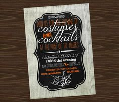 Halloween Party Invitation Cocktails and by SevenStoryMountain, $12.00