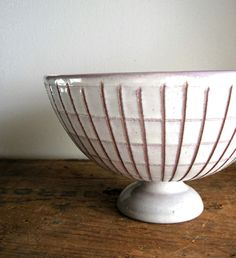 MidCentury Lavender Ceramic Footed Bowl  Made by RushCreekVintage, $44.00