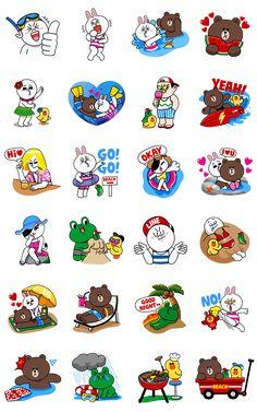 画像 - LINE Characters - Happy Vacations by Line - Line.me