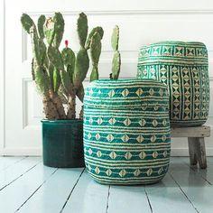 GREEN Deuxième Mexican Baskets Large