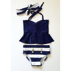 Enfants Bébé Fille Bikini Costume Marine Maillot Bain Baignade Natation