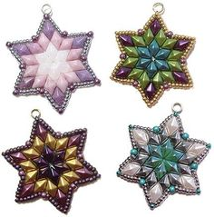 Deb Roberti's DiamonDuo Star ~ Seed Bead Tutorials