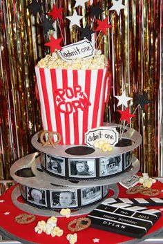 Amazing cake-all edible so cool! #movietheme #popcorn #film #amazingcakes