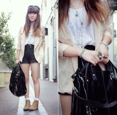 Sheer sleeved blazer (by Willabelle Ong) http://lookbook.nu/look/1543010-sheer-sleeved-blazer