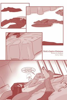 "pyrophoricitee: "" kulkum: "" akiric: "" akiric: "" Excerpt from ""Nick's Captive Christmas"" Written by Read the story here. Zootopia Comic, Zootopia Art, Christmas Comics, Christmas Humor, Nick And Judy Comic, Zootopia Nick And Judy, Nick Wilde, Judy Hopps, Anime Ships"