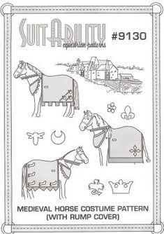 Medieval Horse Costume Pattern With Rump Cover Diy