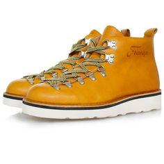 Fracap M120 Scarponcino Vaccheta Yellow Leather Boots