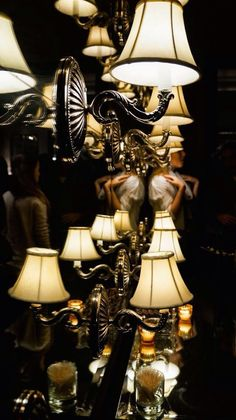 lamps and mirror - the lifestyle directory Chandelier Pendant Lights, Ceiling Pendant, An Affair To Remember, Romantic Evening, Light Art, Light Decorations, Accent Pieces, Floor Lamp, Light Fixtures
